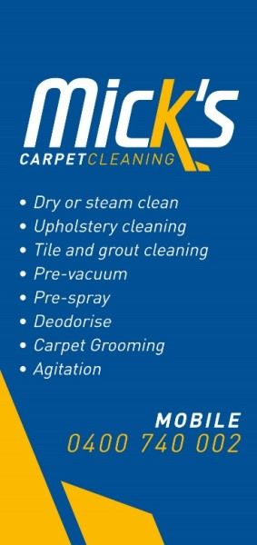 Micks Carpet Cleaning Flyer